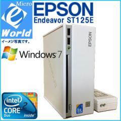MiniPC EPSON ST125E Core2Duo P8700-2.53GHz 2GB スーパーマルチ Windows 7 Office