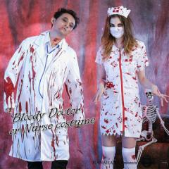 ハロウィン コスチューム ゾンビ ドクター ナース スプラッター 衣装 仮装 変装【1428-zombienurse】