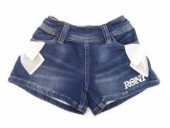 RONI ロニィ 子供服 17春 オーガンジーリボン付きスウェットデニムキュロット r177116050-1013