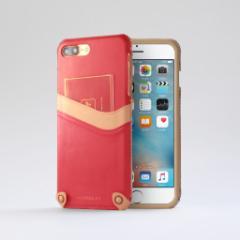 n.max.n New Minimalist Series iPhone8Plus , 7Plus対応 本革縫製ケース 画面カバー(フラップ)無しタイプ 【AP-PH7P-7404】 ピンク