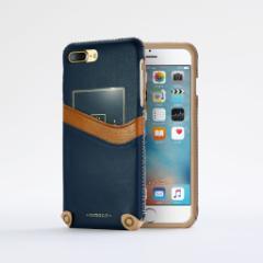 n.max.n New Minimalist Series iPhone8Plus , 7Plus対応 本革縫製ケース 画面カバー(フラップ)無しタイプ 【AP-PH7P-7402】 ブルー
