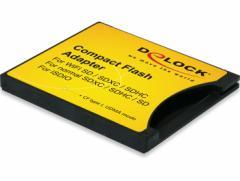 DeLOCK SDXC/SDHC/SDカードをCF Type 1に変換するアダプタ【62637】 メール便は送料無料
