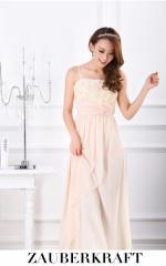 即納SALE結婚式ドレスお呼ばれワンピースロングドレス薔薇モチーフ大きいサイズ[XL][ベージュ]