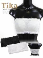 【ドレスの重ね着に便利なインナー♪】【Tika ティカ】総レースブラトップ