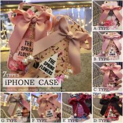 [予約]花柄スマホケース7色iPhone6/6s、iPhone6plus/6s plus、iPhone7、iPhone7 plus アイフォンカバー