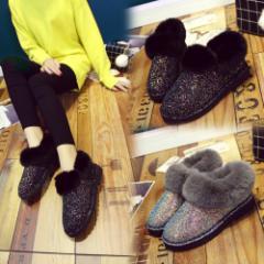 ムートン ムートンブーツ ショート レディース 靴 ファー シューズ ラメ スパンコール キラキラ 大きいサイズ