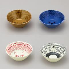 ミッケ 動物柄 ボウル Mサイズ 鉢 中鉢 サラダボウル スープ皿 日本製 和食器 磁器 / ライオン フクロウ ネコ シロクマ