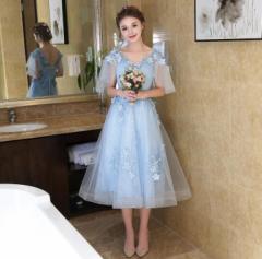 パーティドレス ブライダルドレス 結婚式ワンピース 花嫁 二次会 ウェディングドレス イブニングドレス お呼ばれ お揃い