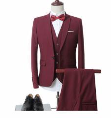 夏新作  ビジネススーツ 3点セットアップ フォーマル スリム メンズスーツ 大きいサイズ 通勤 紳士 面接 二次会 ウォッシャブル M~6XL