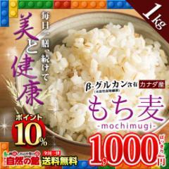 【SALE】【ポイント10%】もち麦 1kg (500g×2) カナダ産 館のもち麦ダイエット βグルカン 大麦 送料無料 ごはん