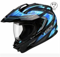 ヘルメット バイク用 今年最新バージョン オフロード バイクヘルメット 新色入荷 PSC付き ゴーグルをプレゼント SOL-SS1