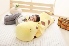 ぬいぐるみ 特大 鹿/キリン 大きい 動物 110cm 可愛い しかぬいぐるみ/鹿縫い包み/麒麟抱き枕/お祝い/ふわふわぬいぐるみ