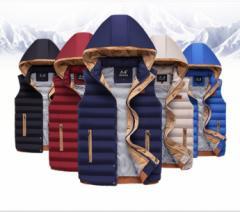 ダウンベスト メンズ  中綿 防寒  軽量 カジュアル  ダウンジャケット 大きいサイズ  アウターファッション お兄系 全5色 新作 秋冬 人気