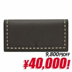 【ぽっきりSALE】フェンディ FENDI SELLERIA メンズ 二つ折り長財布 ブラック レザー 7m0186-74d-f0gxn