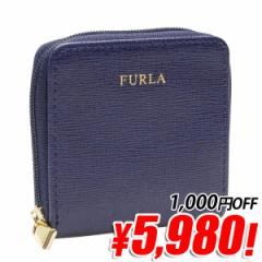 【特価】フルラ FURLA CLASSIC COIN CASE ラウンドファスナー小銭入れ ネイビー レザー 824614 アウトレット