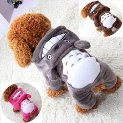秋冬犬服 可愛い犬服 TOTOROドッグウェア わんちゃん服 グレー 人気犬服 冬用犬服 冬ドッグウェア