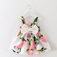 【70-100cm】ベビードレス/キッズドレス/ワンピース/子供ドレス/ワンピース/花柄/夏/レモン