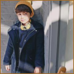 子供服 キッズ 子供 男の子 女の子 コート ロングコート ジャケット カジュアル アウター 保温 防寒 kd1422