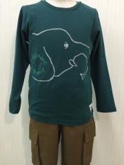 KIDs UP TEMPO [キッズ アップ テンポ ] [セール] 子供服 男の子 女の子 Uni sex (ユニセックス) アニマルプリント長袖Tシャツ