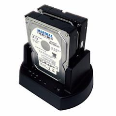 MARSHAL MAL-5135SBKU3大容量ハードディスク8TB対応2.5/3.5インチSATA両対応クローンHDDスタンド ブラックメーカー保証付き送料無料