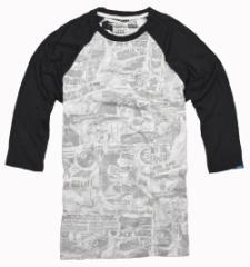 バンズ Tシャツ メンズ 七分袖 カットソー ロゴ ラグラン  vans 正規 vn0003o2hkn クルーネック