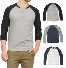 アバクロ Tシャツ メンズ ロンT ヘンリーネック 長袖 121-0456all abercrombie & fitch アバクロンビー&フィッチ