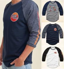 Tシャツ 長袖 ホリスター メンズ コットン 七分袖 正規品 ロンT ラグラン Hollister 323-1838all