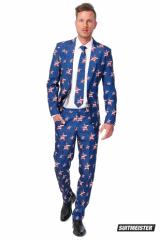 OPPO SUITS SUITMEISTER 【USA Stars and Stripes】正規品 メンズスーツ ポイント10倍 送料無料!