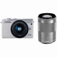 キヤノン ミラーレス一眼カメラ ダブルズームキット EOSM100WZK-WH ホワイト