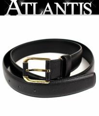 イヴサンローラン メンズ ベルト レザー 黒 size90〜95