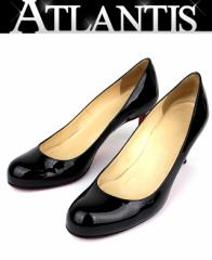銀座 クリスチャンルブタン パンプス レディース 靴 size35 1/2 黒