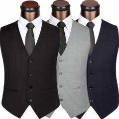 人気XS-7XL メンズ ジレベスト 上質スーツ地 フォーマルベスト ビジネスオフィスベスト 結婚式 通勤 チョッキ 事務服 タキシード制服