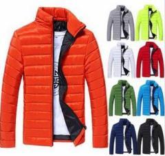 特価 秋冬メンズ ダウンジャケット カジュアル 綿入り 薄い 軽量 ビジネス スポーツ ジャケット 中綿 ジップアップ 9色選択