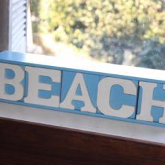 【リゾート雑貨】 翌日出荷 BEACH ロゴ 5BOX 小物収納 マリン雑貨 BEACH 木製