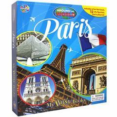 (英語版)海外書籍 「Paris - Around the World My Busy Book(パリ 世界都市 マイ ビジーブック)」 (本+ミニフィギュア12種)