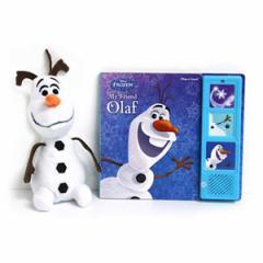 (英語版)海外書籍 「Frozen:My Friend Olaf(アナと雪の女王:私の友達オラフ)」(サウンドブック+オラフぬいぐるみ)