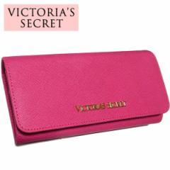ヴィクトリアシークレット財布/VICTORIAS SECRET IDケース付 かぶせ長財布 ピンク【日本未発売!】