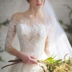 ウェディングドレス/ドレス/結婚式/二次会/ホワイト/花嫁/ウェディング/エンパイア/プリンセスドレス/白ドレス/ロングドレス/披露宴