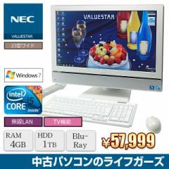 液晶一体型PC Windows7 NEC VW770/W Core i5 650 メモリ4GB HDD1TB ブルーレイ 23型ワイド 無線LAN office 地デジ 中古PC 2198