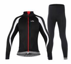 LZLサイクルジャージ上下セット/男性用自転車サイクルウェア裏起毛長袖/春秋冬サイクルジャージ普通タイプ ビブタイプ
