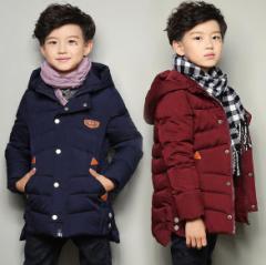 ボーイズキルティングジャケット男の子 キッズコート子供用アウターウェア秋冬パーカー中綿入  棉服オーバー  軽量120-170紺色