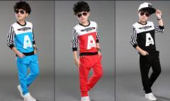 ボーイズ 子供服キッズ ジャージ上下セットアップ  男の子 韓国風ボーダー普段着 入学式スウェット  トレーナー服パーカーとズボン春秋