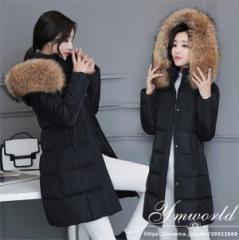 中綿 コート レディース  アウター ダウンジャケット 秋冬 防寒 軽量 大きいサイズ 美スタイル  トップス  ふわふわ帽子付き  ホワイト