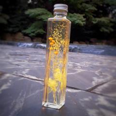 ハーバリウム黄色200ml 花ギフト ハーバリウム ドライフラワー ブリザーブドフラワー 長持ちOK!
