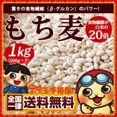 もち麦 1kg(500g×2) 送料無料 驚きの食物繊維(β-グルカン) スーパーフード