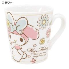 ◆マイメロディ 陶器製マグ/フラワー(サンリオアニメキャラ)お土産,キャラクターグッツ通販