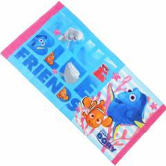 7358-A/しるし/【Disney/Pixar】ファインディングドリー バスタオル(A柄)/キャラクター/ディズニー/ピクサー/お風呂/洗面所/海水浴