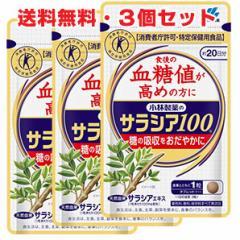 ★送料無料・3個セット★小林製薬 サラシア100 60錠(約20日分)×3個 特定保健用食品