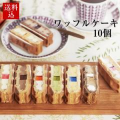 送料込 ワッフルケーキ10個入 /ギフト お菓子 /スイーツ グルメ /ホワイトデー お返し