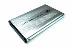 2.5インチ ハードディスク・HDD USB2.0接続外付け用ケース IDE用 シルバー 「メール便可」